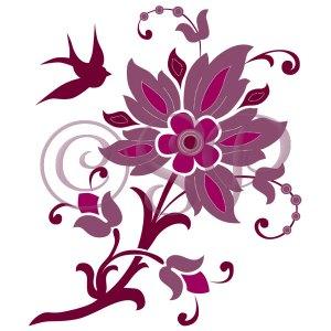 Plum Floral detail