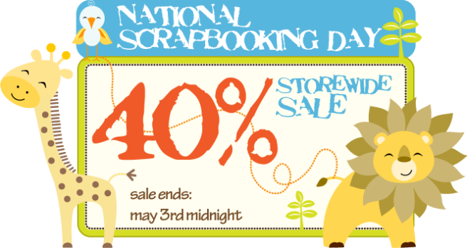 National Scrapbooking Day BIG SALE!