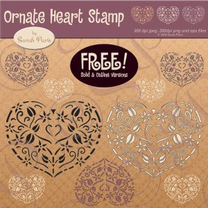 Ornate heart FREEBIE!